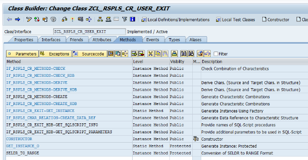 BPC Embedded: Exit Based Characteristic Relationships with