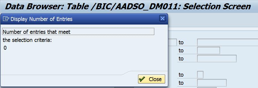 Figure 19. DWL – Data Mart ADSO Inbound Table after activation