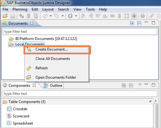 SAP Lumira 2.0 designer