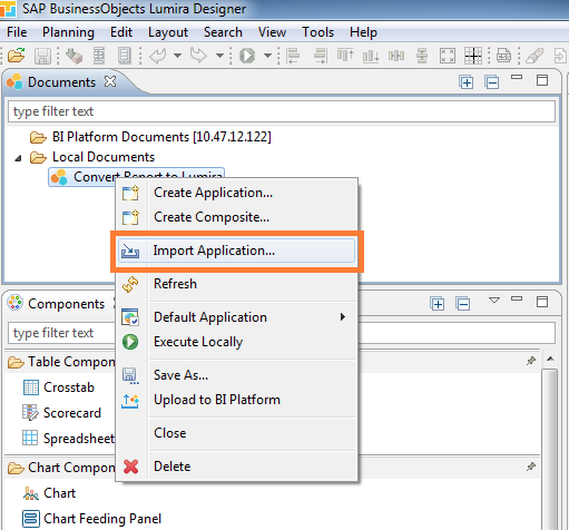 How to migrate SAP Design Studio 1 6 application to SAP