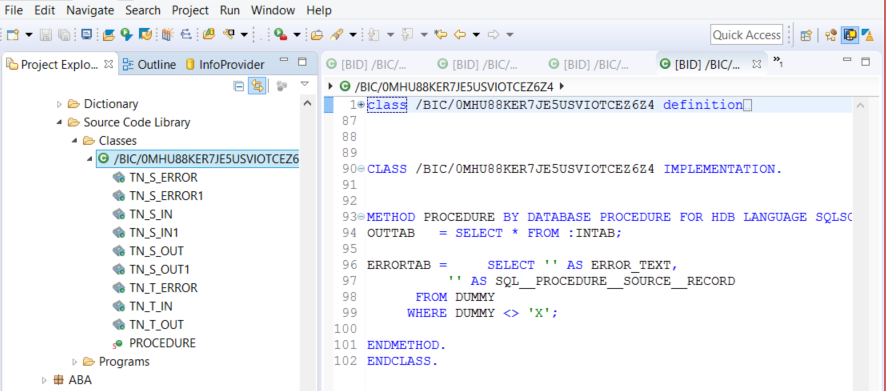 BW on HANA Transformations with AMDP Script: Start Thinking