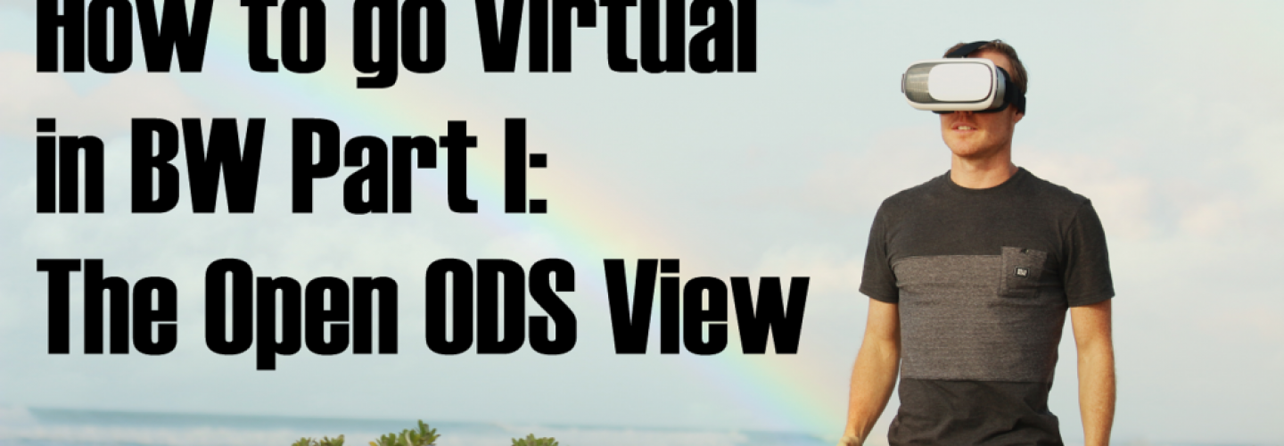 How to go Virtual in BW Part I: The Open ODS View